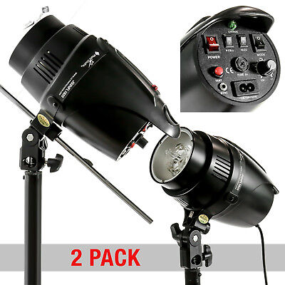 2 x 180W Photography Monolight Studio Strobe Flash Light Lighting