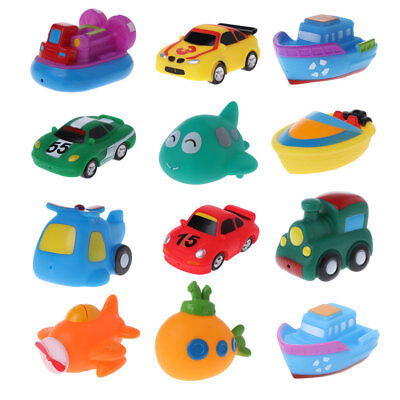 Baby Kids Toys Colorful Car Boat Soft Rubber Toys Swimming Pool Kids Water Spray