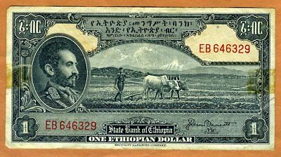 Ethiopia, 1 Dollar, ND (1945), P-12b, F
