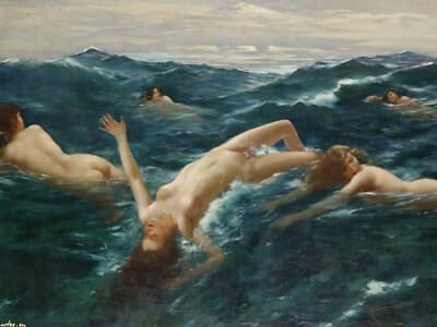 Handmade Oil Painting repro The Sirens