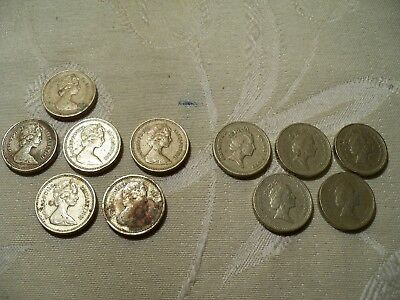 11 British Pound Coin Lot