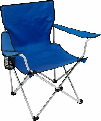 Simple Value Polyester Steel Folding Camping Chair with Carry Bag - Blue
