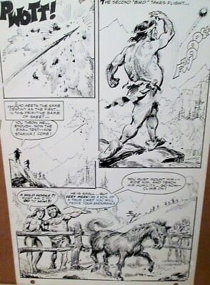 Anthro 1 ORIGINAL PAGE ART Howie Post 1968 Key First Issue DC Comic Pencil & Ink