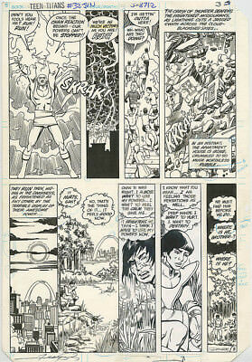 George Perez ORIGINAL ART New Teen Titans 32 PAGE #3 Signed 1983 Pencil & Ink DC