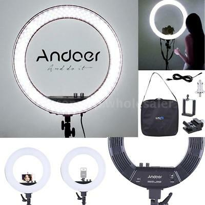 "Andoer 18"" Photo Studio LED Ring Video Light Bi-Color Dimmable Continuous Kit"