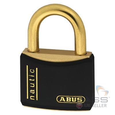 *NEW* ABUS T84MB/20 Black Marine Grade Padlock - Solid brass body/shackle / UK S