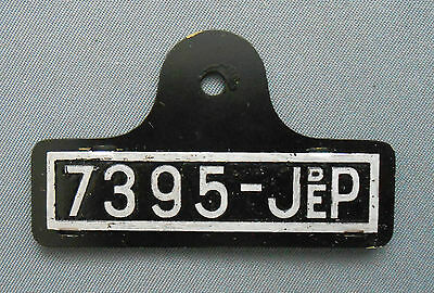 D201 License Plate For Car Jep Rolls Hispano Copy