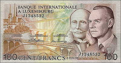 Luxemburg / Luxembourg 100 Francs 1981 Pick 14A (1)