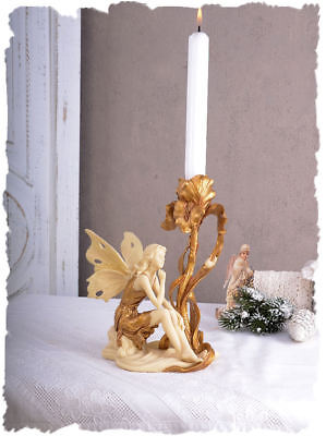 Small Fairy Girl Candle Holder in the Art Nouveau Fairy