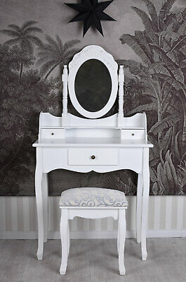 Vintage Dressing Table with Stool White Country House Style