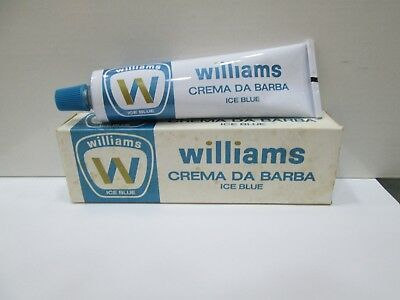 """WILLIAMS-ICE BLUE""  SHAVING CREAM- CREMA DA BARBA PER LA RASATURA 60ml -VINTAGE"