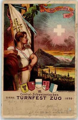 52508222 - Zug Turnfest 1899 Zug Stadt 1900 Lithographie