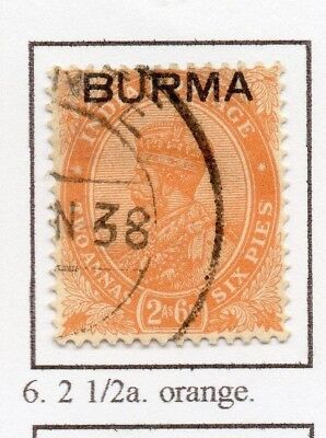 Burma 1937 GV Early Issue Fine Used 2a.6p. Optd 228485