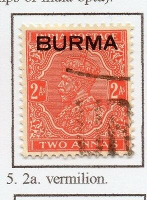 Burma 1937 GV Early Issue Fine Used 2a. Optd 228484