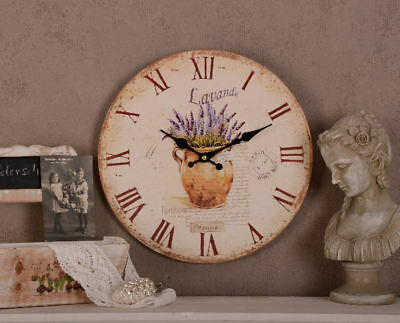 French Kitchen Clock Shabby Chic Lavender Maison Provence