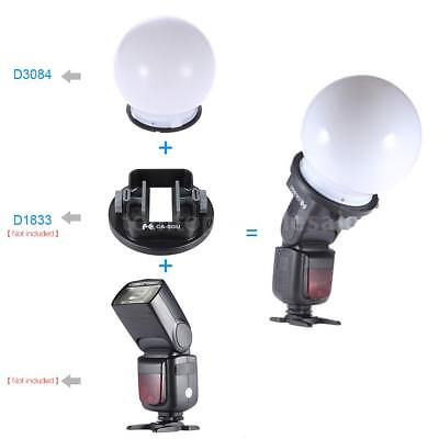 Speedlite Flash Bounce Photography Diffuser Soft Ball Dome for Nikon Canon Y9U1