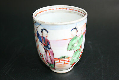 18th Century Antique Chinese Porcelain Hand Painted Picture Small Cup