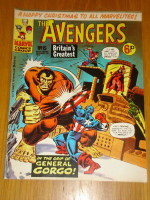 Avengers #15 British Weekly 1973 December 29 Marvel