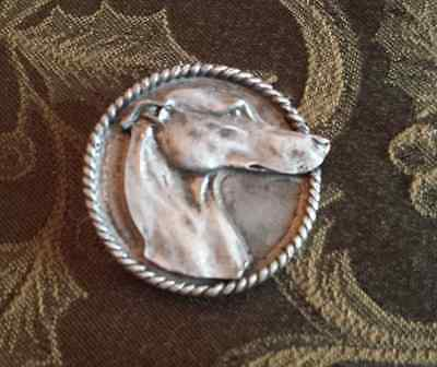 Race Dog Gamble Racing Whippet 1 Purebred Italian Dog Greyhound Pewter Pin