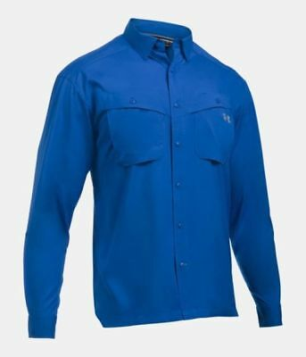 Under Armour Tide Chaser Long Sleeve Fishing Shirt 1290744-437 Mediterranean