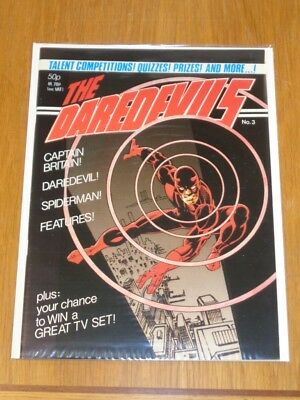 Daredevils #3 Marvel British Monthly 1983 Captain Britain Daredevil Spiderman