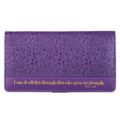 Checkbook Cover I Can Do All Things Through Him Who Gives Me Strength Phil. 4:13