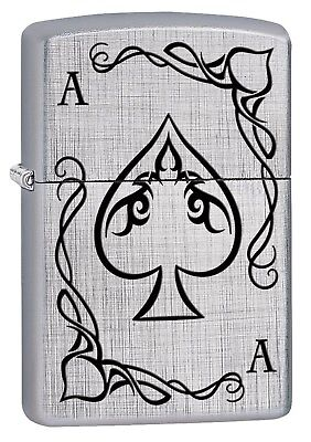 Zippo Lighter: Ace of Spades Playing Card - Linen Weave 78528