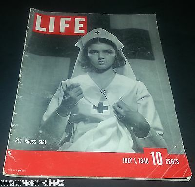 July 1, 1940 LIFE Magazine. Dumb Dora. Nurse. Nursing old ads 7/40 FREE SHIPPING
