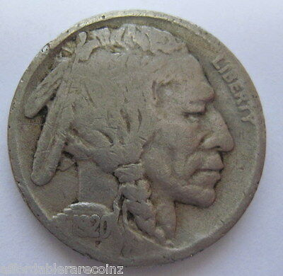 1920 S Buffalo Indian Head nickel five cents coin NICE VG (#814h) *