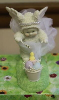 "Department 56 Snowbunnies ""I'm Your Fairy Godbunny"" 26316 Easter Figurine"