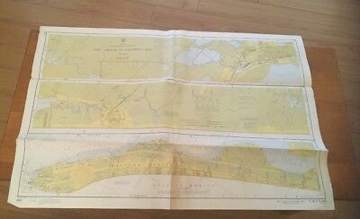 Vtg Nautical Chart: C&GS 885/884 Louisiana- Texas
