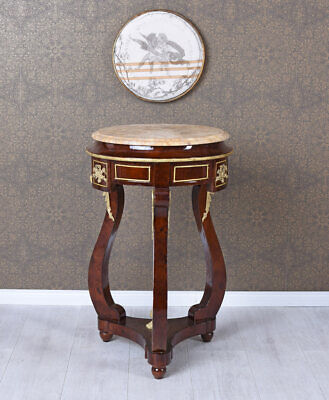 Flower Stand Baroque Plant Stand round Table Barocktisch Side Table Antique