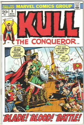 Kull The Conqueror Comic Book #5 Marvel Comics 1971 FINE-