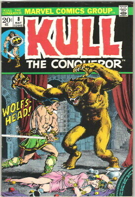 Kull The Conqueror Comic Book #8 Marvel Comics 1972 VERY FINE-