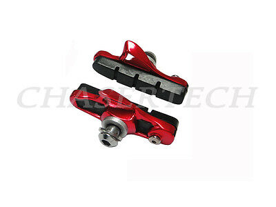 AICAN Ultralight Anode Road Bike Bicycle C-Brake Pads Shoes Cartridge Red