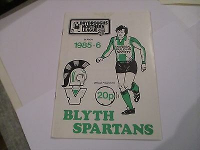 1985 - 86 Blyth Spartans V Scarborough ( Fac ).