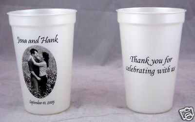 500 16oz Plastic cups Personalized wedding favors