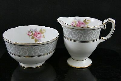 Vintage Crown Staffordshire Roses Floral Milk Jug & Sugar Bowl