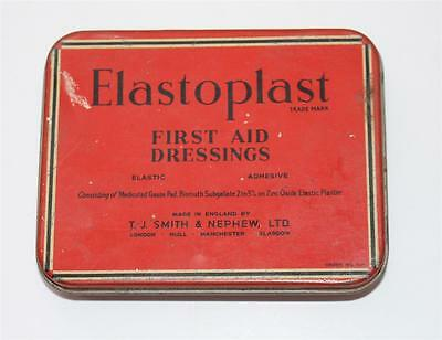 alte Blechdose, Elastoplast First Aid Dressing Made in England  #F562
