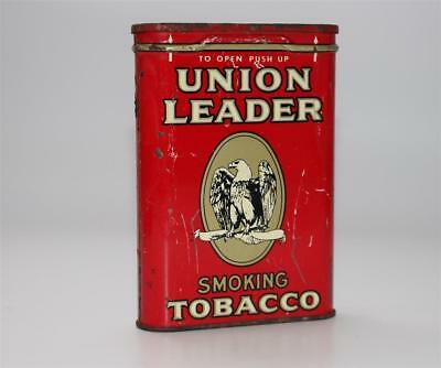 alte Blechdose, Union Leader Smoking Tobacco Tabak Zigaretten US USA Adler #C252
