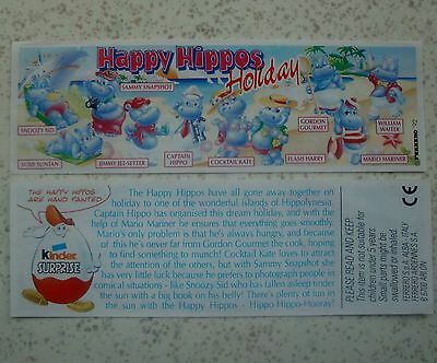 "BPZ ""Happy Hippos Holiday"" 1996 UK mit Schriftzug ""Holiday"""