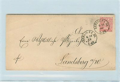 i3926 Berlin, Brief nach Landsberg EF 1 Groschen 1869