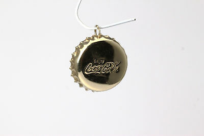 Enjoy Coca Cola Bottle Cap 14K Yellow Gold Charm or Pendant 2 Grams (PEN4833)