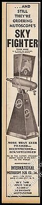 1941 Mutoscope Sky Fighter coin-op arcade game vintage print ad