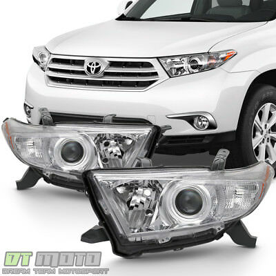 For 2011 2012 2013 Toyota Highlander Headlights Headlamps Light Lamps Left+Right