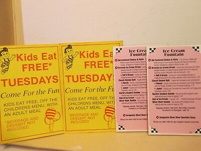 Bob's Big Boy table cards and dessert menus -- 1980s?