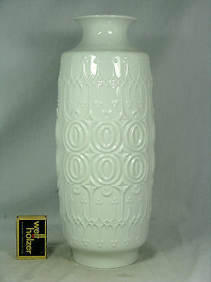 Cool 70´s Pop Art Design KAISER Porzellan glazed relief porcelain vase 85  29 cm