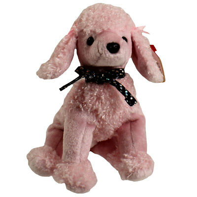 TY Beanie Baby - BRIGITTE the Pink Poodle (6.5 inch) - MWMTs Stuffed Animal Toy