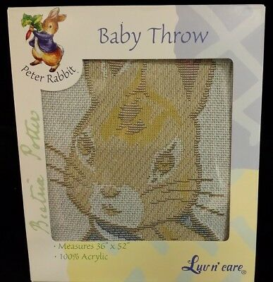 New Peter Rabbit Baby Throw Blanket
