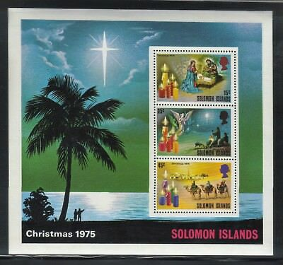 Solomon Islands 1975 Christmas Souvenir Sheet Mnh